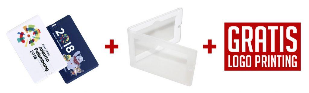 Flashdisk Kartu Souvenir dengan Kotak Box Packaging Murah