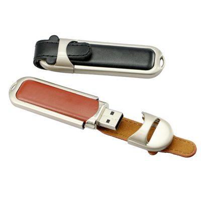 USB Flashdisk kulit murah dan berkualitas untuk branding merek bisnis